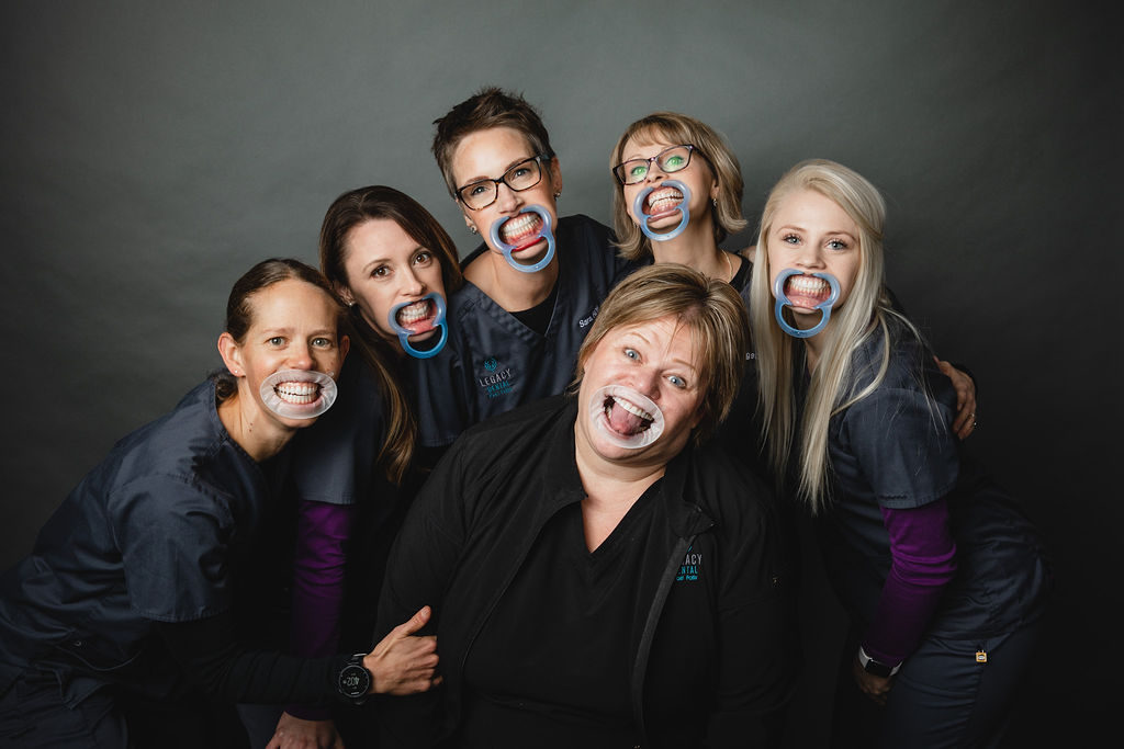 Silly photo of the Legacy dental staff